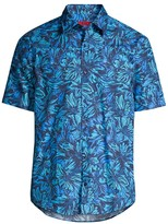 HUGO Ermino Floral Short-Sleeve Button-Front Shirt