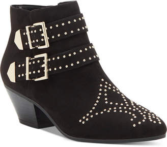 INC International Concepts Inc Iliana Studded Western Ankle Booties, Women Shoes