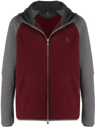 Brunello Cucinelli Colour-Block Zipped Hoodie