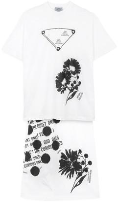 Prada Printed t-shirt and skirt set