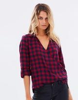Lipsy Wrap Front Check Shirt