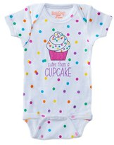 Infant Girl's Sara Kety Baby & Kids Cupcake Cutie Bodysuit