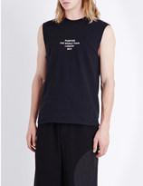 Justin Bieber Purpose Tour Mark my Words sleeveless cotton-jersey t-shirt
