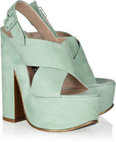 Rochas Textured-leather platform sandals
