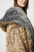 French Connenction Blaire Faux Fur Hooded Coat