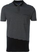 Lanvin striped cut polo shirt - men - Cotton - L