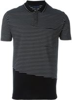 Lanvin striped cut polo shirt