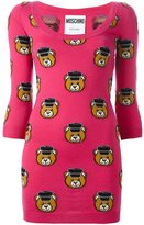 Moschino Toy bear fitted dress