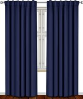 Utopia Bedding Blackout, Room Darkening Curtains Window Panel Drapes - (Navy Blue Color) 2 Panel Set, 52 inch wide by 84 inch long each panel, 7 Back Loops per Panel, 2 Tie Back Included -