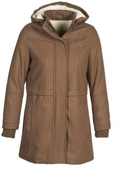 Naf Naf ABHEIGE women's Coat in Brown