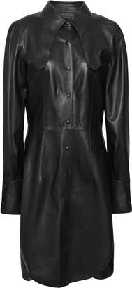 Loewe Open-back Leather Tunic