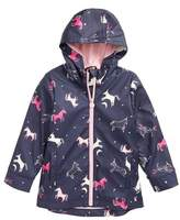 Joules Girl's Fleece Lined Rain Jacket