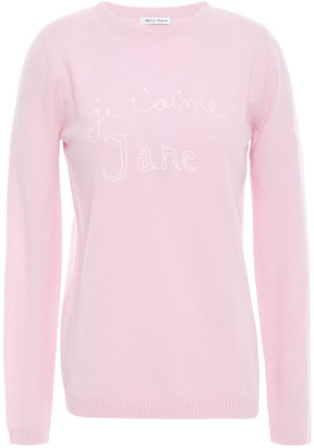 Bella Freud Embroidered Intarsia Cashmere Sweater