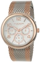 Akribos XXIV Women's AK559RG Multi-Function Two-Tone Stainless Steel Watch with Mesh Bracelet