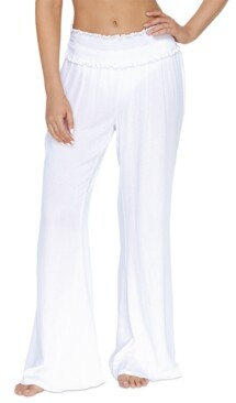 Thumbnail for your product : Raisins Juniors' Solid Smocked Cover-Up Beach Pants Women's Swimsuit