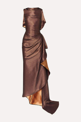 Maticevski Supernova Gathered Metallic Cady Gown - Copper