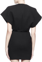 Saint Laurent Belted Wool Kimono Dress