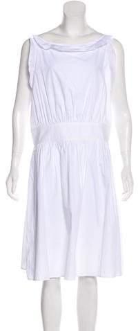 Miu Miu Sleeveless Midi Dress w/ Tags