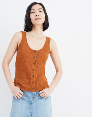 Madewell Kingston Button-Front Sweater Tank