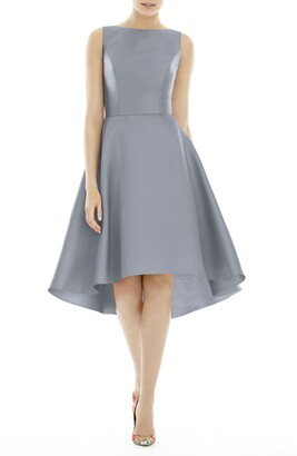 Alfred Sung High/Low Cocktail Dress