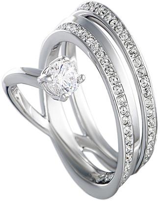Swarovski Crystal Rhodium Ring