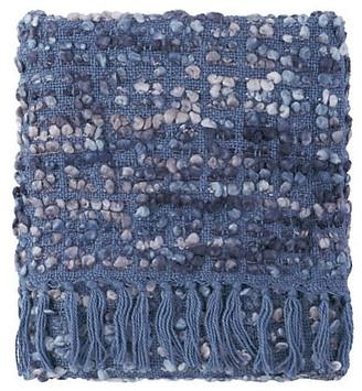 Company C Park Acrylic Hand Woven Throw Blanket, Blue Iris
