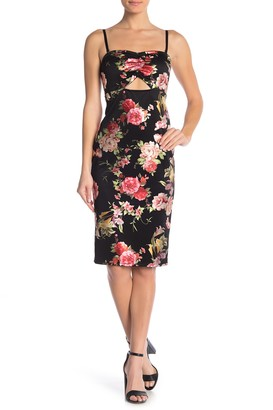 Material Girl Floral Print Bodycon Dress