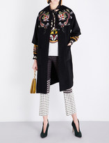 Etro Floral-embroidered wool-blend coat