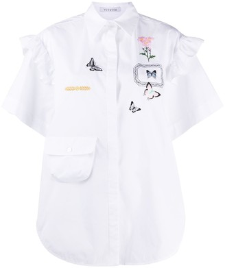 VIVETTA Embroidered Short-Sleeved Shirt