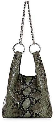 Rebecca Minkoff Women's Karlie Chain Snakeskin-Embossed Leather Shopper