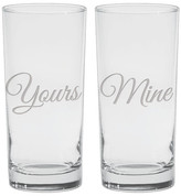 Culver Yours & Mine Cooler Glass - Set of 2