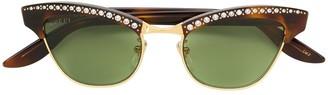 Gucci Crystal-Embellished Cat-Eye Sunglasses