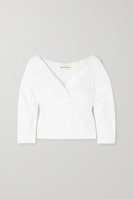 Mara Hoffman + Net Sustain Lela Twist-front Organic Cotton Top - White