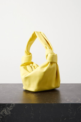 Bottega Veneta Jodie Mini Knotted Leather Tote - Pastel yellow
