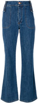 See by Chloe retro flare cropped jeans - women - Cotton/Spandex/Elastane - 26