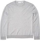 Calvin Klein Long Sleeve Liquid Touch Crew Neck Sweater (Heoric Grey Heather) Men's Clothing