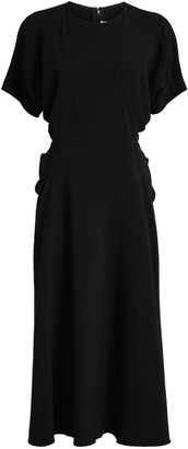 Victoria Beckham Batwing-Sleeved Midi Dress