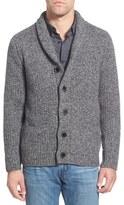 Schott NYC Men's Shawl Collar Wool Blend Cardigan