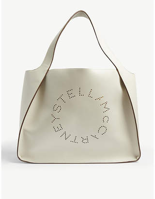 Stella McCartney Perforated-logo small vegan-leather tote bag