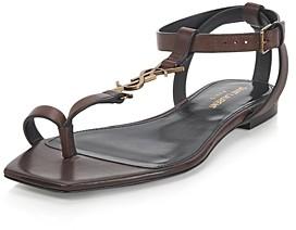 Saint Laurent Women's Cassandra T Strap Sandals