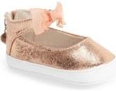 Stuart Weitzman Baby Chiffon Mary Jane Crib Shoe (Baby)
