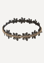 Bebe Metal & Lace Flex Choker