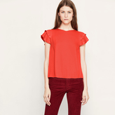 Maje Floaty top with studded frills
