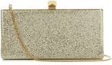 Jimmy Choo Celeste small lurex and glitter clutch