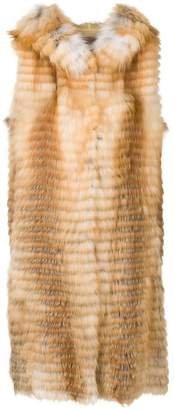 Liska Volpe long fur waistcoat