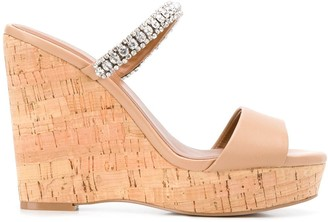 Kurt Geiger Alexia embellished wedge heel sandals
