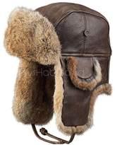 Frr Vintage Rodeo Leather Rabbit Fur Aviator Hat (XL)