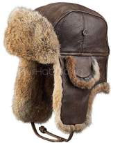 Frr Vintage Rodeo Leather Rabbit Fur Aviator Hat