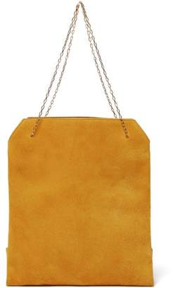The Row Lunch Bag Leather Clutch - Womens - Yellow