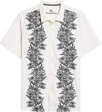 Tommy Bahama Midnight Blooms Short Sleeve Silk Button-Up Shirt